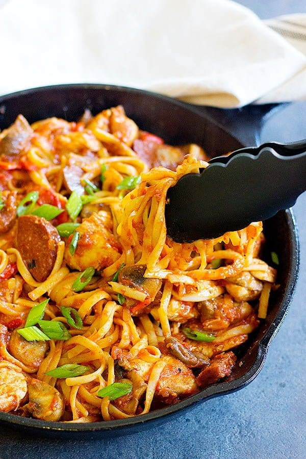 Jambalaya Pasta One Pan Unicorns In The Kitchen