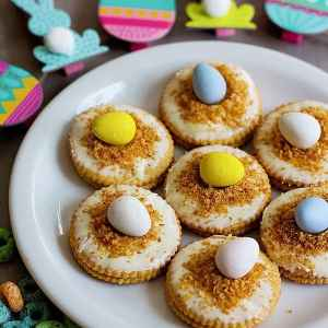 No Bake Egg Nest Cookies