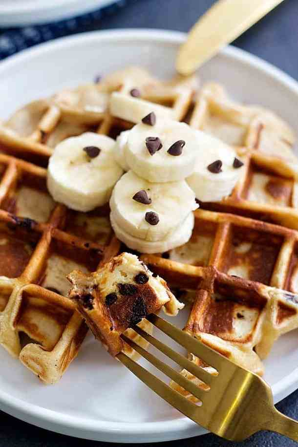 peanut butter banana waffles are easy and very tasty.