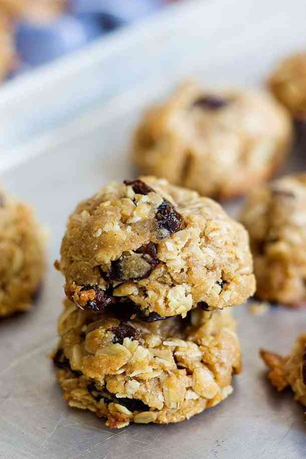 Peanut Butter oatmeal cookies with raisins are great holiday treats!