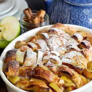 Cinnamon French Toast Bake with Apples