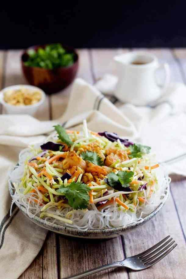 Make this Quick and Easy Shrimp Noodle Salad within minutes and have a delicious meal full of great flavors. Serve this dish with a special spicy peanut sauce for extra flavor.