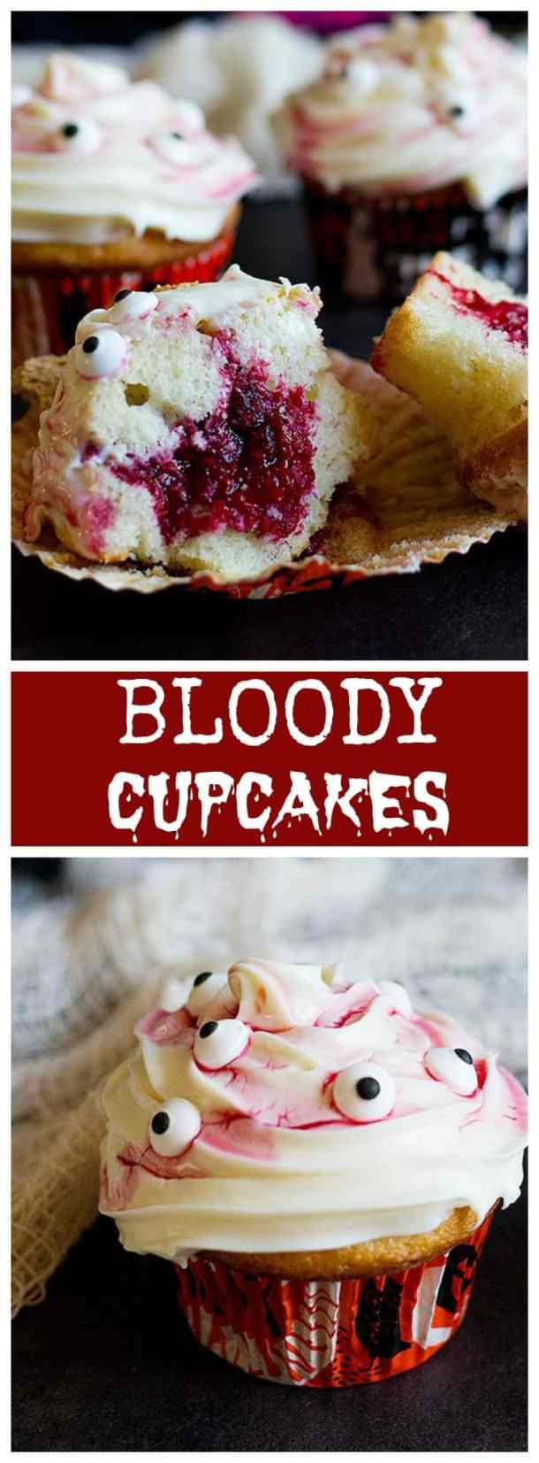How to Make Bloody Cupcakes (Quick Tutorial) #Halloween #Cupcake From UnicornsintheKitchen.com