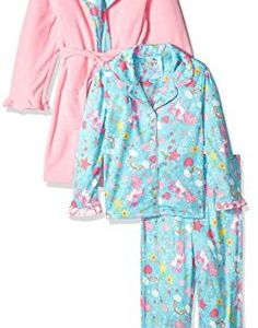 Unicorn and Rainbows Robe and 2pc Pajama Set