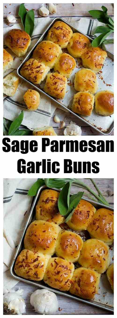 Garlic Buns Recipe | Garlic Dinner Rolls | Garlic Buns Homemade | From UnicornsintheKitchen.com