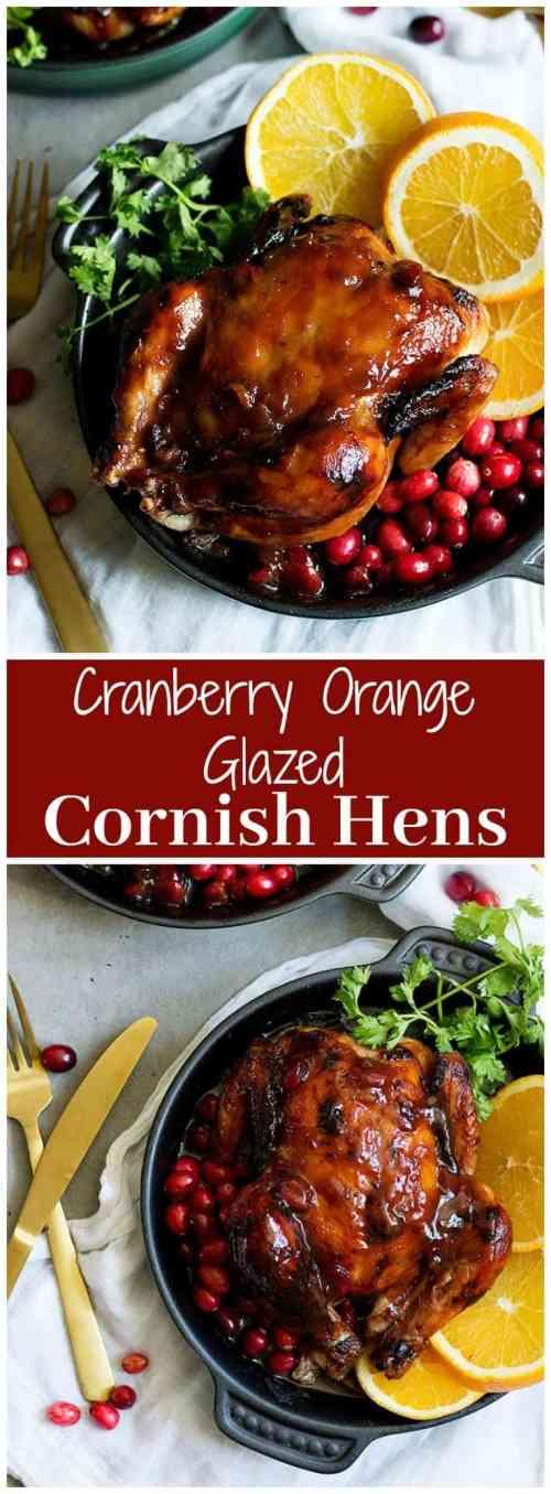 Orange Glazed Cornish Hens | Cranberry Orange Glazed Cornish Hens | Orange Glazed Chicken Recipe | #GamedayRecipe #HolidayRecipe #ChickenRecipe