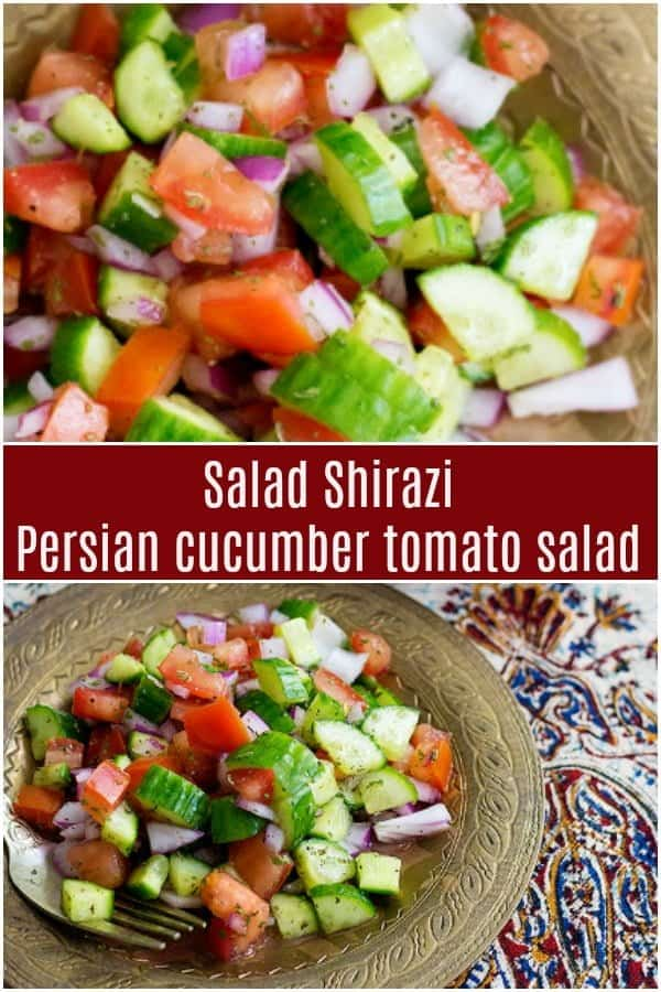 Salad Shirazi is a light and easy Persian salad that is a delicious alternative to the usual side dishes. It's refreshing, healthy and very simple to make.#persianrecipes #persiansalad #saladrecipes #saladshirazi #shirazisalad