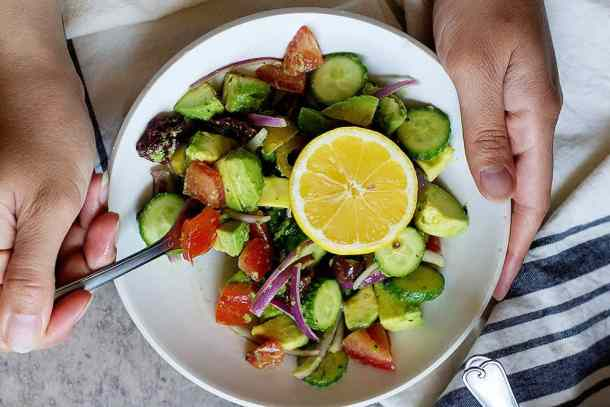 This Mediterranean salad recipe is perfect for a light lunch or dinner.