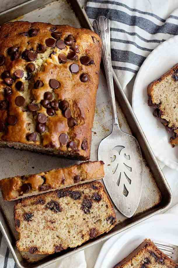 Our most favorite banana bread and a readers' favorite! This banana bread is soft and chocolate-y, with a lot of flavo