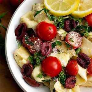 Tortellini Pasta Salad Mediterranean Style