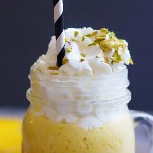 Mango Milkshake with Cardamom