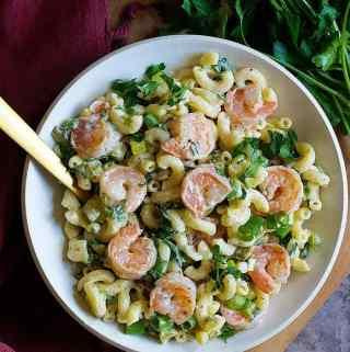 Best Creamy Shrimp Pasta Salad