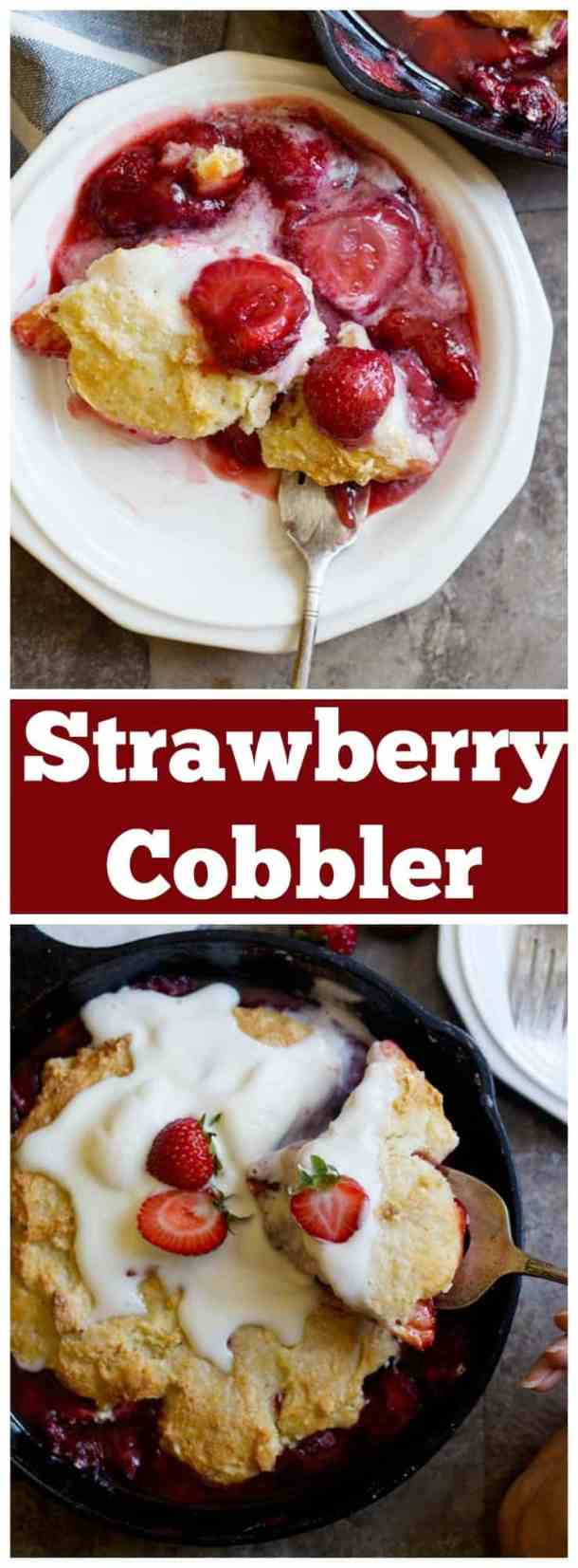 Strawberry cobbler | cobbler recipe | summer recipe | Strawberry recipe | Easy cobbler recipe | Homemade strawberry cobbler | #cobbler #summerrecipes #strawberries #strawberryrecipes