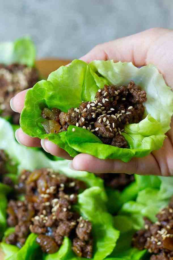 Ground beef lettuce wraps are a perfect recipe for weeknights because they're simple, easy and can be made in less than twenty minutes. Use this Korean beef recipe for a quick meal that everyone loves.