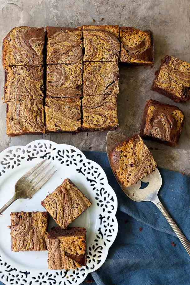 Chocolate peanut butter brownies are ultimate peanut butter cup lover's dram!