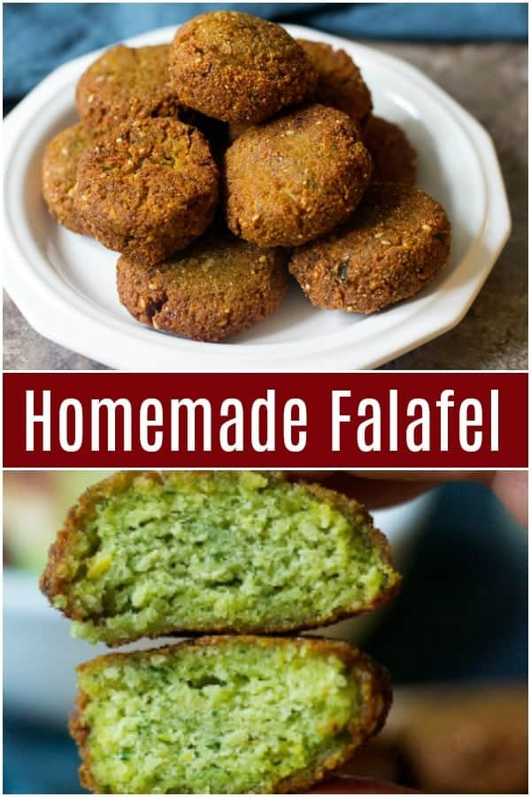 This homemade falafel recipe is easy to follow and makes delicious falafels that are crispy on the outside and soft and fluffy on the inside. Learn how to make falafels at home and ditch the take out. #falafel #homemadefalafel