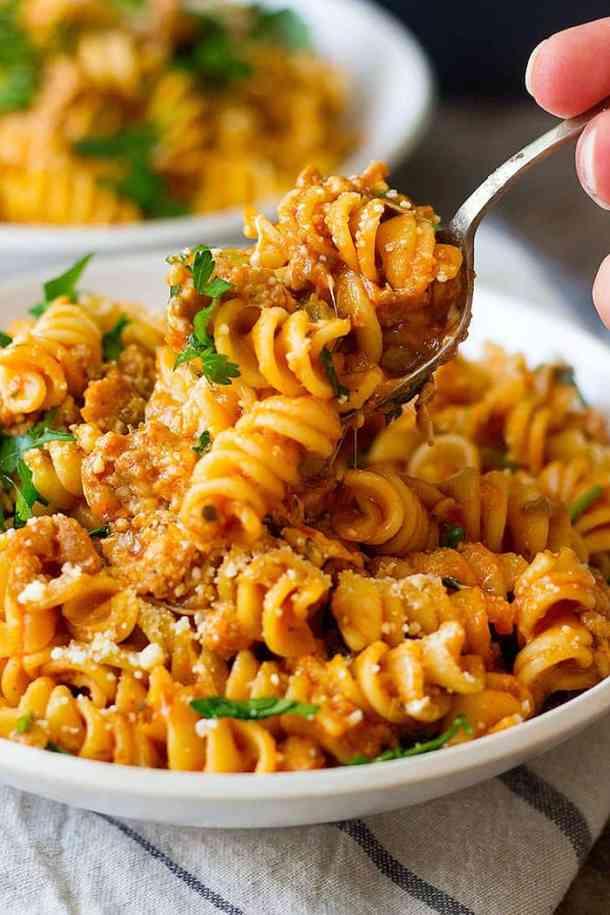 Italian Sausage Pasta In Instant Pot Unicorns In The Kitchen