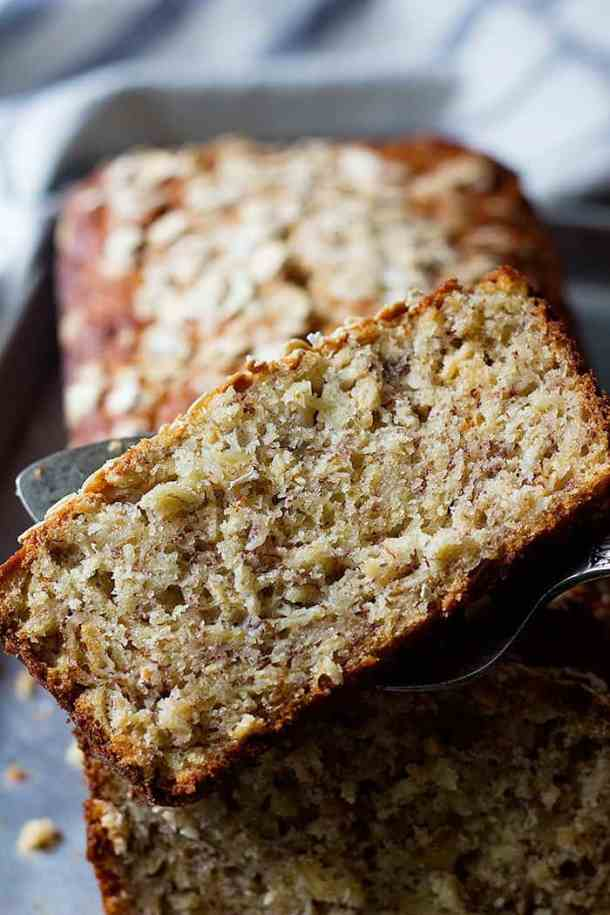 This is a moist banana bread that's easy and quick to make.