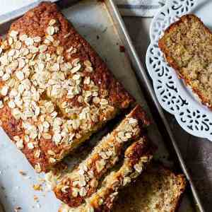 Easy Oatmeal Banana Bread