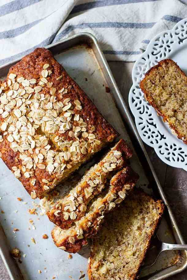 Oatmeal banana bread is perfect for breakfast. This easy banana bread very simple and light, coming together in no time and everyone loves it.