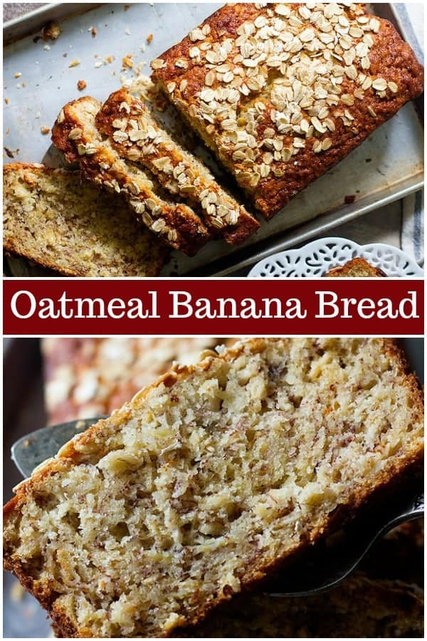 Oatmeal banana bread is perfect for breakfast. This easy banana bread very simple and light, coming together in no time and everyone loves it. #bananabread #oatmealbananabread #quickbread #bestbananabread
