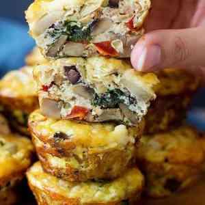 Sausage Breakfast Muffins (Mediterranean Style)