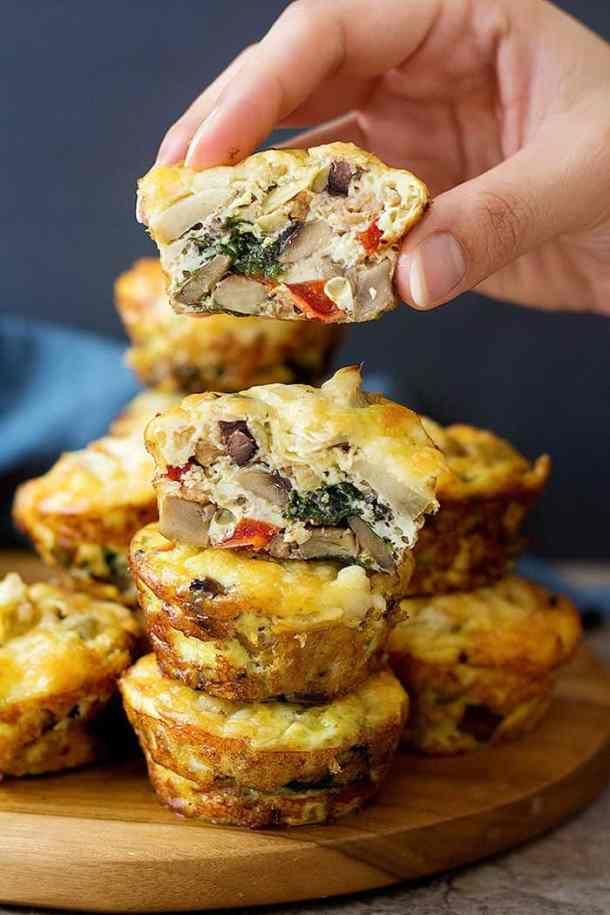 Sausage breakfast muffins come together in no time and are super simple to make. These breakfast egg muffins are packed with tasty sausage and vegetables!