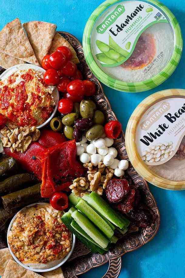 Mediterranean mezze platter is perfect for holiday season parties.