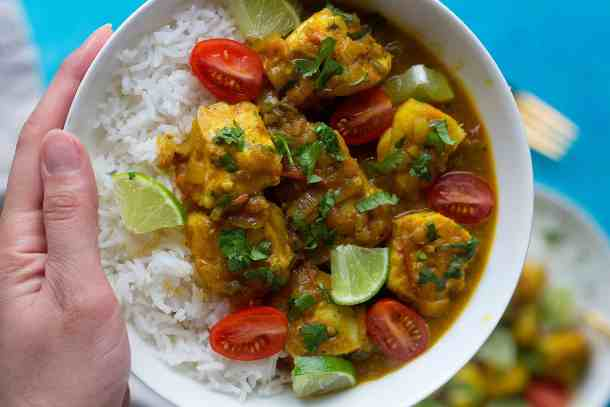 fresh easy fish curry is the perfect weeknight dinner.