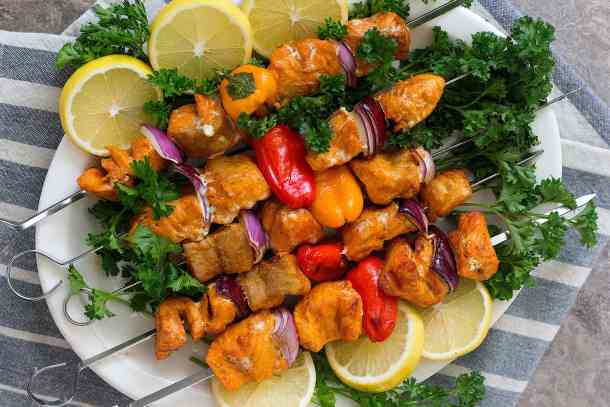 salmon kebabs are very good for summer grilling.
