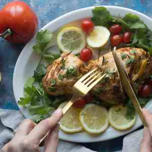 Garlic Lemon Cheese Stuffed Chicken Breast