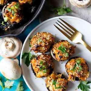 Spicy Crab Stuffed Mushrooms