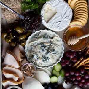 Cold Spinach Artichoke Dip & A Summer Charcuterie Board