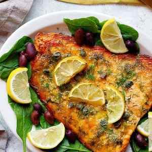 Mediterranean Baked Dijon Salmon Recipe [Video]