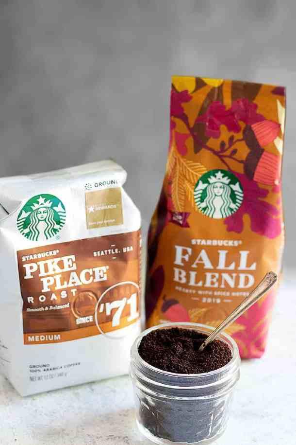 ground coffee made by starbucks
