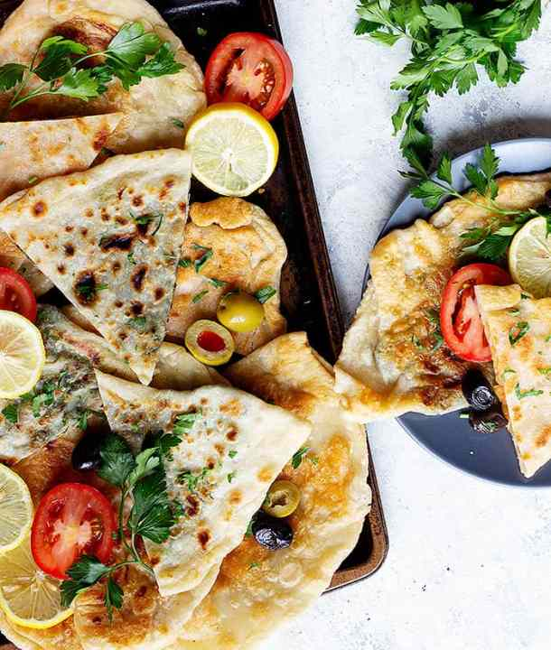 Gozleme is a delicious Turkish flatbread stuffed with different fillings such as potatoes and spinach. Watch the video to learn how to make gozleme.