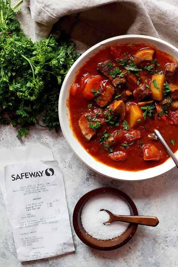 Healthy Italian beef stew made with fresh ingredients. You can serve it with bread or polenta.