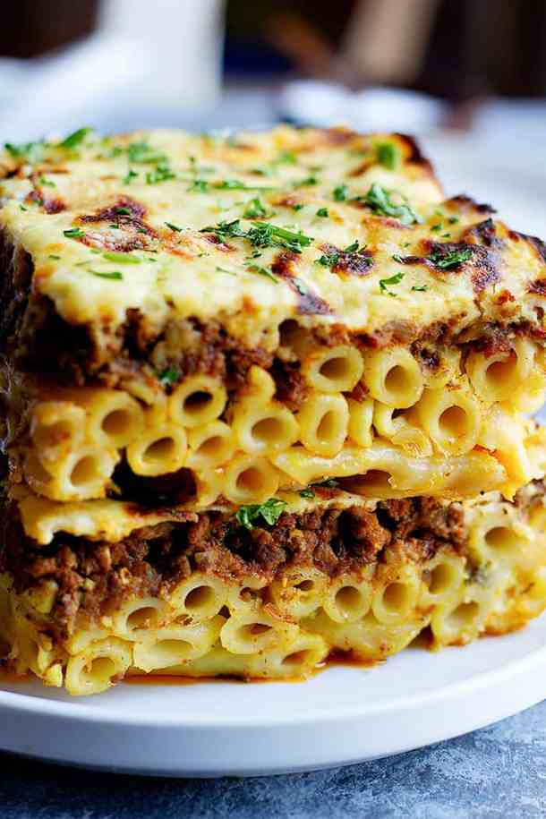 Pastitsio is a Greek pasta bake that's bursting with flavor. Learn how to make pastitsio recipe with this step-by-step tutorial and video.