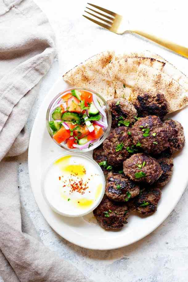 Kofta kebab would get a nice smokey flavor on the grill.