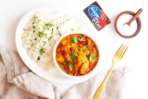 You can get all your ingredients at your local kroger store to make this Indian inspired dish.