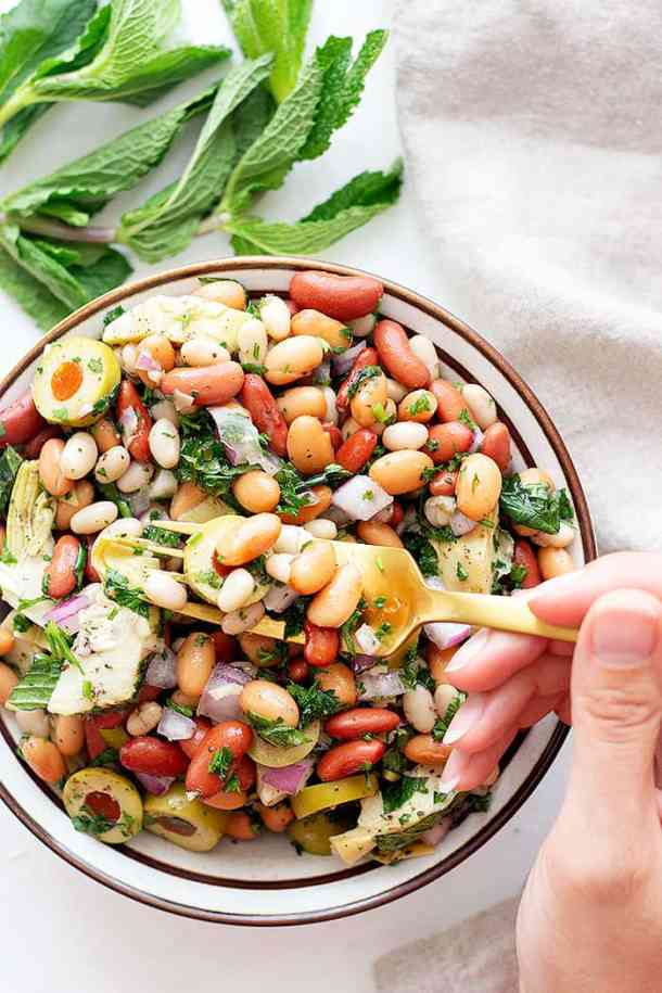 this bean salad is best served cold.