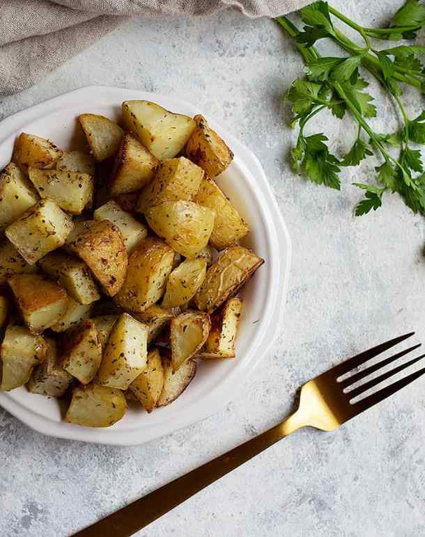 This oven roasted potatoes recipe is a keeper.