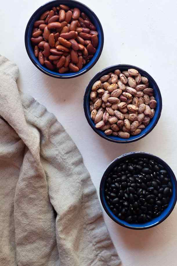 When making instant pot beans, there is no need to soak them for hours before cooking them and you can cook them directly.