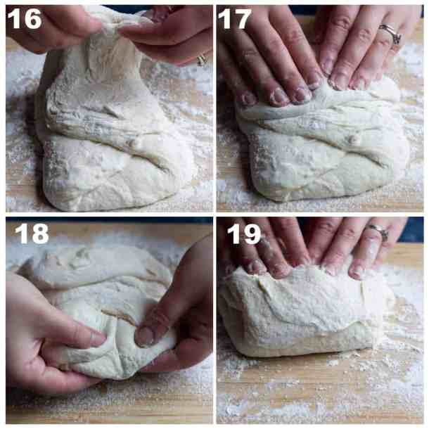 Folding from each side gives the dough some tension.