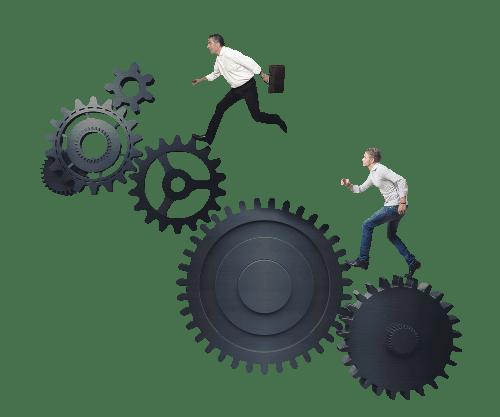 UNICORNSULT Marketing Vorsprung Zahnrad Technik Unternehmen Vorteil schnell System