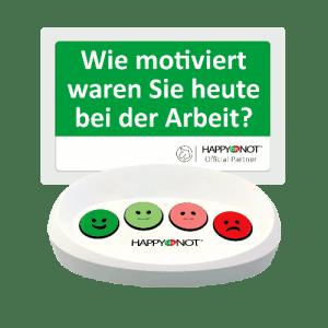 HappyOrNot Happy Or Not Smiley Terminal Gerät Buttons Wie motiviert waren Sie heute bei der Arbeit