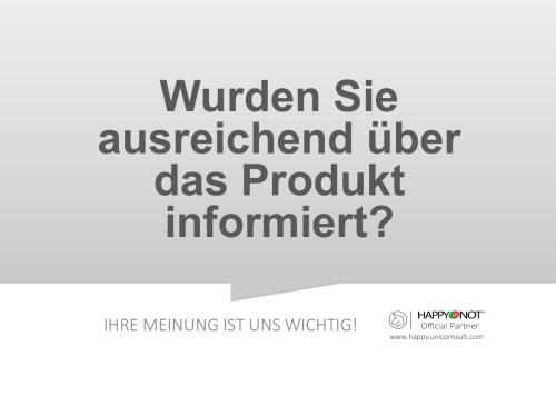 Wurden Sie ausreichend ueber das Produkt informiert Happy Or Not HappyOrNot Smiley Terminal Question Sheet Frageblatt