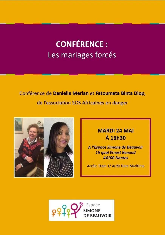 Conférence : les mariages forcés Nantes