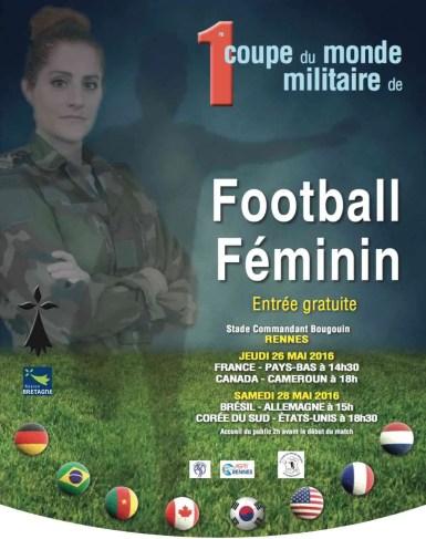 Rennes Coupe monde militaire de football féminin