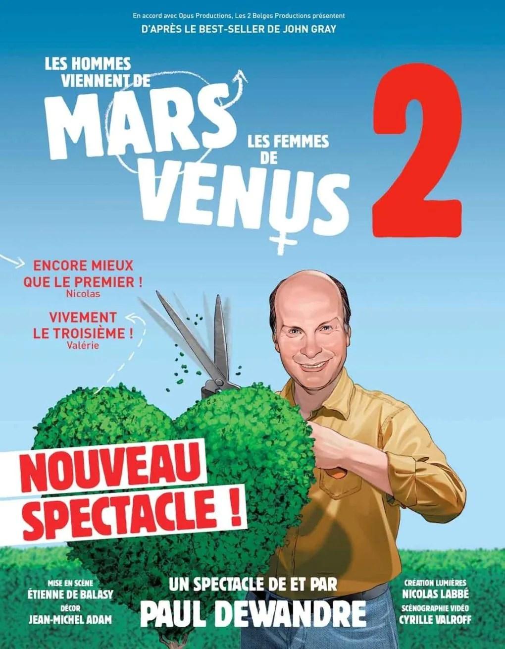 Les hommes viennent de Mars les femmes de Vénus 2 Nantes